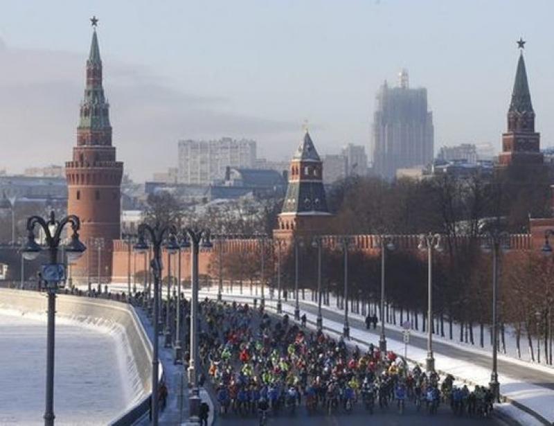 Зимен парад на колелата се състоя в Москва при -29 градуса