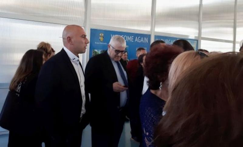 Петър Кънев и Николай Тишев на тържеството по случай 115-годишнината на Пристанище Бургас