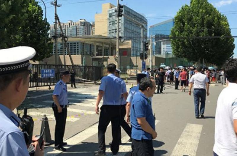 Взрив до посолството на САЩ в Пекин
