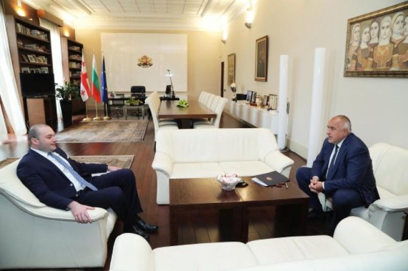 Бойко Борисов разговаря днес с грузинския си колегаМамука Бахтадзе