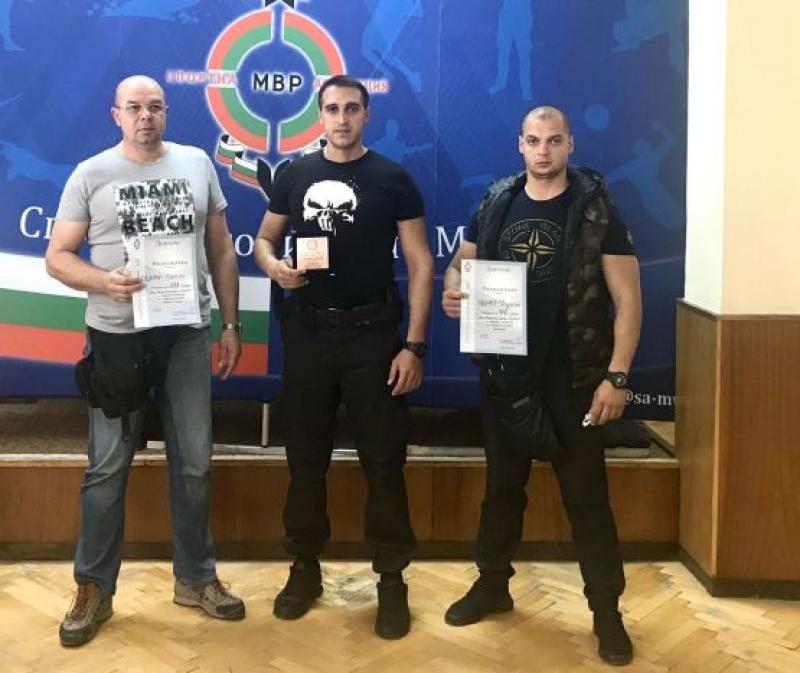 Трето място завоюваха полицаи от Бургас по стрелба с пистолет