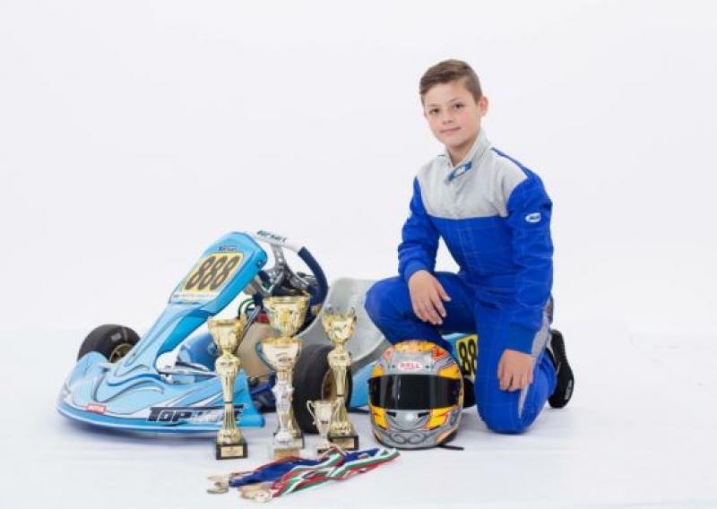 12 -годишният Мартин Янков с бронзово отличие от Националните картинг серии