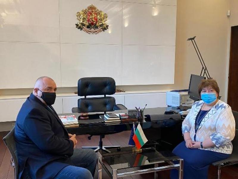 Премиерът Бойко Борисов се срещна с председателя на Висшия адвокатски съвет Ралица Негенцова