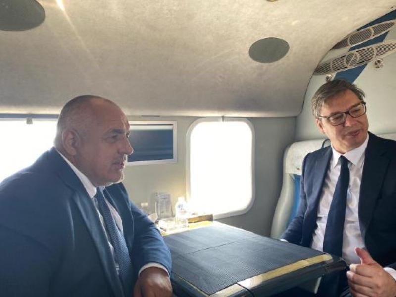 """Борисов и Вучич инспектираха изграждането на АМ """"Европа"""" и  """"Балкански поток"""" /ВИДЕО/"""